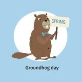 χαιρετισμός καλή χρονιά καρτών του 2007 Ημέρα Groundhog Στοκ Φωτογραφίες