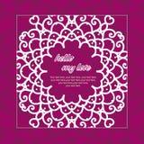 χαιρετισμός καλή χρονιά καρτών του 2007 Κυκλική floral διακόσμηση Στοκ Φωτογραφία