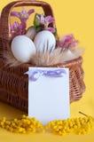 χαιρετισμός Πάσχας καρτών ευτυχής Στοκ εικόνα με δικαίωμα ελεύθερης χρήσης