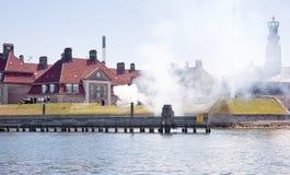 Χαιρετισμός προς τιμή τη βασίλισσα της Δανίας στοκ εικόνα