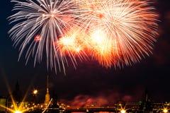 Χαιρετισμός, πυροτεχνήματα Στοκ Εικόνες