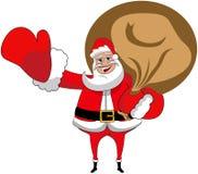 Χαιρετισμός σάκων Χριστουγέννων Άγιου Βασίλη που απομονώνεται Στοκ φωτογραφία με δικαίωμα ελεύθερης χρήσης