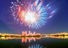 Χαιρετισμός στη Μόσχα στις 9 Μαΐου Στοκ Εικόνα