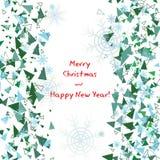 χαιρετισμός Χριστουγέννων καρτών Εγγραφή Καλών Χριστουγέννων Στοκ Φωτογραφίες