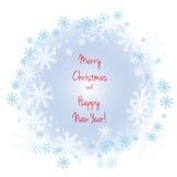χαιρετισμός Χριστουγέννων καρτών Εγγραφή Καλών Χριστουγέννων Στοκ εικόνα με δικαίωμα ελεύθερης χρήσης