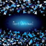 χαιρετισμός Χριστουγέννων καρτών Εγγραφή Καλών Χριστουγέννων Στοκ Εικόνα
