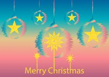 χαιρετισμός Χριστουγέννων καρτών στοκ εικόνα