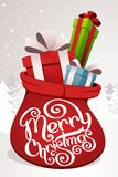 χαιρετισμός Χριστουγέννων καρτών Στοκ εικόνες με δικαίωμα ελεύθερης χρήσης
