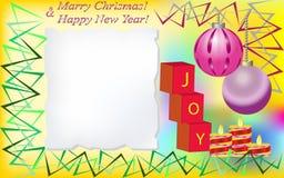 χαιρετισμός Χριστουγέννων καρτών διανυσματική απεικόνιση