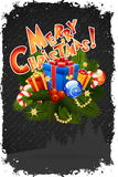 χαιρετισμός Χριστουγέννων καρτών Στοκ εικόνα με δικαίωμα ελεύθερης χρήσης