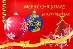 Χαιρετισμός Χριστουγέννων ελεύθερη απεικόνιση δικαιώματος