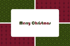 χαιρετισμός Χριστουγένν&ome Στοκ εικόνα με δικαίωμα ελεύθερης χρήσης