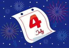 Χαιρετισμός 4 Ιουλίου Στοκ Εικόνες