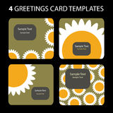 χαιρετισμός 4 καρτών ελεύθερη απεικόνιση δικαιώματος