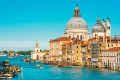 Χαιρετισμός della της Σάντα Μαρία βασιλικών στο μεγάλο κανάλι, Βενετία Στοκ φωτογραφίες με δικαίωμα ελεύθερης χρήσης