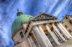 Χαιρετισμός della Di Σάντα Μαρία βασιλικών, Βενετία, Ιταλία (HDR) Στοκ Φωτογραφία