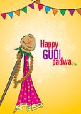 Χαιρετισμός Padwa που χαιρετά τη σεληνιακή ημέρα Στοκ Εικόνες