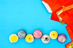 Χαιρετώντας την ευτυχή κινεζική νέα έννοια υποβάθρου έτους - λέκιθος αυγών SH Στοκ Εικόνες