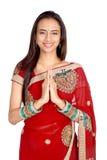 χαιρετώντας το ινδικό namaste θέ&si Στοκ Φωτογραφίες