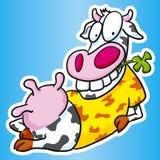 χαλάρωση αγελάδων διανυσματική απεικόνιση