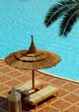 χαλάρωση poolside Στοκ Εικόνες