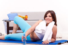 χαλάρωση workout στοκ εικόνες