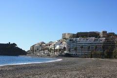 χαλίκι Ισπανία παραλιών στοκ φωτογραφίες