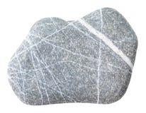 Χαλίκι της πέτρας graywacke που απομονώνεται Στοκ Φωτογραφίες
