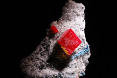 χαλαζίας πολύτιμων λίθων βάσεων rhodochrosite Στοκ Εικόνες