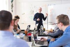 Χαλαρωμένη άτυπη συνεδρίαση των ομάδων επιχείρησης ίδρυσης επιχείρησης ΤΠ Στοκ εικόνα με δικαίωμα ελεύθερης χρήσης