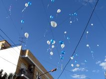 Χαλαρό των μπαλονιών στην τέχνη για την ειρήνη το γεγονός κράτησε στο Raa Anka κέντρο Μπουένος Άιρες Αργεντινή γιόγκας Στοκ Εικόνες