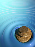 χαλαρώστε το ύδωρ ηφαιστείων πετρών SPA zen Διανυσματική απεικόνιση