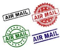 Χαλασμένα κατασκευασμένα γραμματόσημα σφραγίδων ΤΑΧΥΔΡΟΜΕΊΟΥ AIR ελεύθερη απεικόνιση δικαιώματος