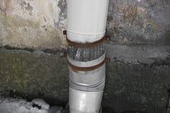 Χαλασμένες ένδεια και αποσύνθεση συμβόλων υδρορροών πάγου Στοκ Εικόνες