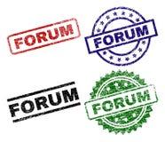 Χαλασμένες κατασκευασμένες σφραγίδες γραμματοσήμων ΦΟΡΟΥΜ ελεύθερη απεικόνιση δικαιώματος