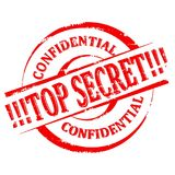 Χαλασμένη σφραγίδα - κορυφή - μυστικό - εμπιστευτικό - διάνυσμα Στοκ Φωτογραφίες