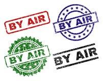 Χαλασμένος κατασκευασμένος ΑΠΟ τις σφραγίδες γραμματοσήμων AIR ελεύθερη απεικόνιση δικαιώματος