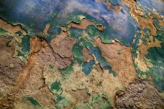 χαλασμένος παλαιός τοίχος στοκ εικόνες με δικαίωμα ελεύθερης χρήσης