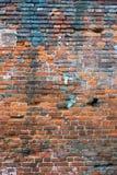 χαλασμένος τούβλο τοίχο& στοκ φωτογραφίες