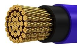 χαλκός καλωδίων ηλεκτρ&iota Στοκ Εικόνες