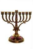 χαλκός menorah Στοκ Εικόνες