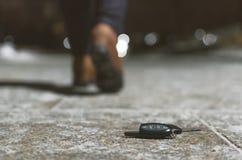 Χαμένα κλειδιά αυτοκινήτων στοκ εικόνες