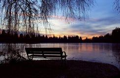 Χαμένη λιμνοθάλασσα - σκιαγραφία Στοκ Εικόνα