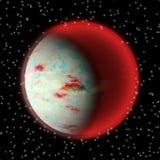 Χαμένος πλανήτης στη μακρινή γωνία του κόσμου Ένας πλανήτης με η ατμόσφαιρα που κρύβεται κάπου απεικόνιση αποθεμάτων