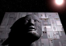 Χαμένος στο διάστημα Στοκ φωτογραφίες με δικαίωμα ελεύθερης χρήσης