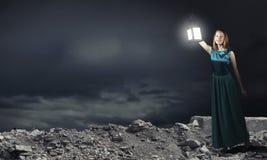 Χαμένος στο σκοτάδι Στοκ εικόνες με δικαίωμα ελεύθερης χρήσης