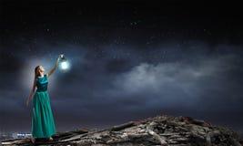 Χαμένος στο σκοτάδι Στοκ φωτογραφίες με δικαίωμα ελεύθερης χρήσης