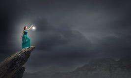 Χαμένος στο σκοτάδι Στοκ φωτογραφία με δικαίωμα ελεύθερης χρήσης