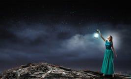 Χαμένος στο σκοτάδι Στοκ Φωτογραφίες