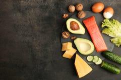 Χαμηλά προϊόντα εξαερωτήρων για την κετονογενετική διατροφή στοκ εικόνα